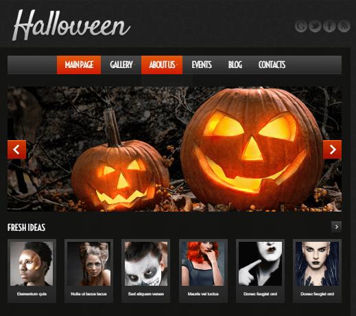 Halloween Atmosphere Responsive WordPress Theme