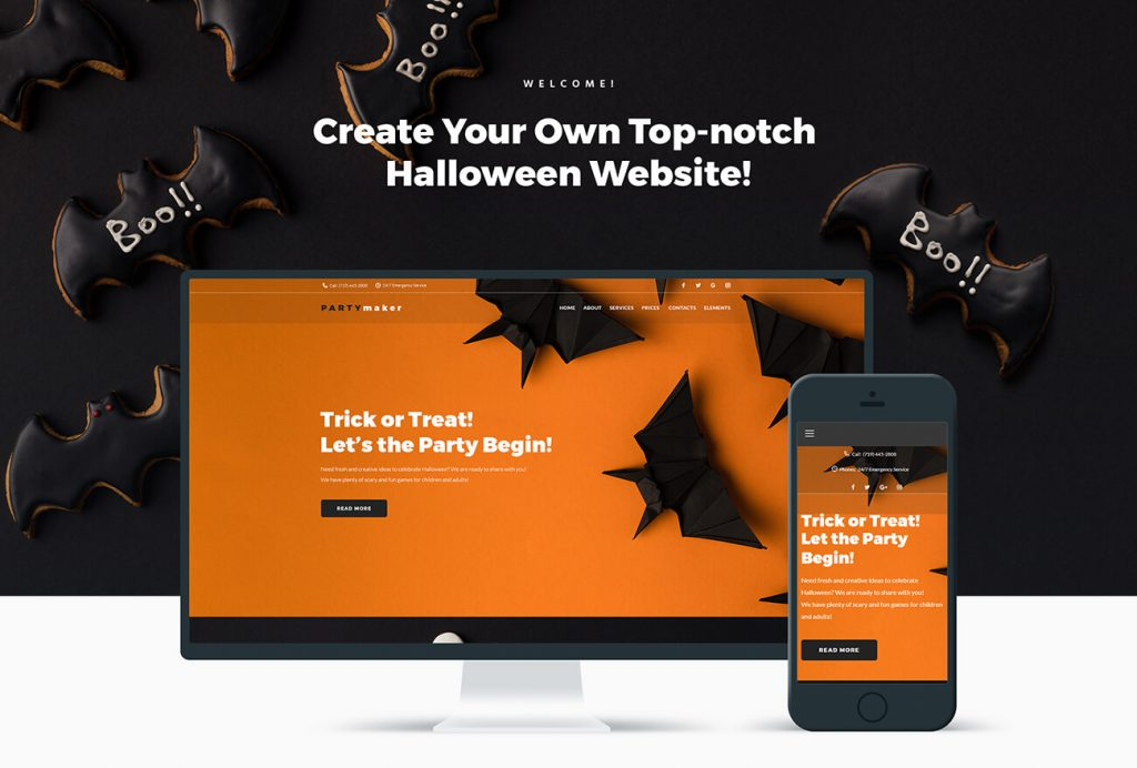 Partymaker Halloween Party WordPress Theme