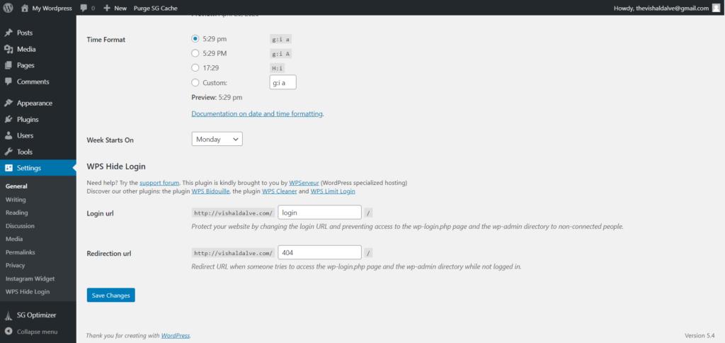 Change WordPress Login URL With Plugin 1