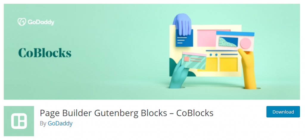 Page Builder Gutenberg Blocks – CoBlocks By GoDaddy