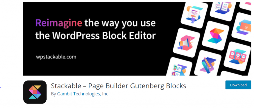 Stackable – Page Builder Gutenberg Blocks By Gambit Technologies, Inc