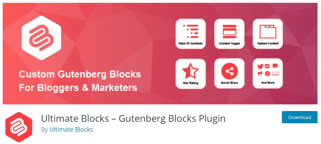 Ultimate Blocks – Gutenberg Blocks Plugin By Ultimate Blocks