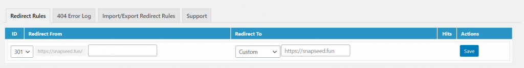 301 Redirects Easy Redirect Manager