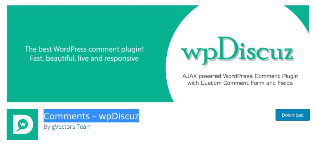 Comments – WpDiscuz