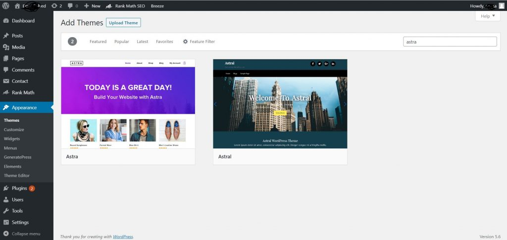 WordPress Theme Installation Process